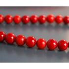 Raudono koralo karoliukai 6mm
