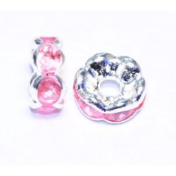 Plokšti karoliukai su kristalais