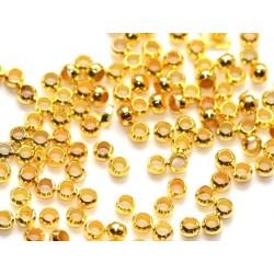 Aukso spalvos karoliukai - fiksatoriai