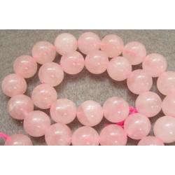 Rožinio kvarco karoliukai. 8 mm